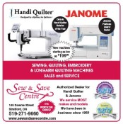 Sea & Save is the Authorized Dealer for Handi Quilter & Janome