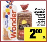 Country Harvest or Wonder bread
