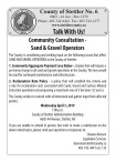 Community Consultation - Sand & Gravel Operators