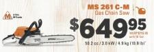 MS 261 C-M   Gas Chain Saw