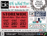 Spend more Save more Storewide at BKs Brand Names
