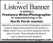 Listowel Banner is seeking a Freelance Writer/Photographer