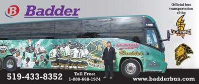 Official bus transportation of the LONDON LIGHTNING