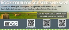 BOOK YOUR FORAGE SEED AND SAVE