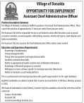 Assistant Chief Administrative Officer wanted
