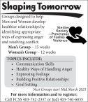 Stettler Society Prevention of Family Violence Shaping Tomorrow