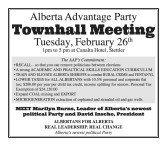 Alberta Advantage Party Townhall Meeting