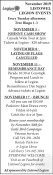 November 2019 Listowel Legion Events