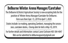 Delburne Winter Arena Manager/Caretaker wanted