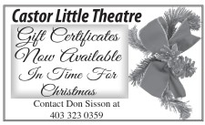 Castor Little Theatre  Gift Certificates Now Available