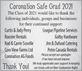 The Class of 2021 would like to thank you