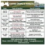 SAUGEEN CONSERVATION COFFEE CROPS & DONUTS