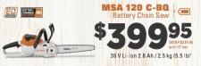 MS 120 C-BQ   Battery Chain Saw