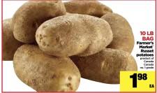 10 LB BAG Russet potatoes