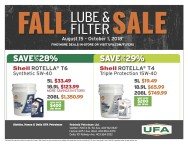 FALL LUBE & FILTER SALE