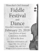 Hinecker's 3rd Annual Fiddle Festival and Dance