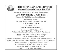 STRYCHNINE AVAILABILITY FOR Ground Squirrel Control For 2019