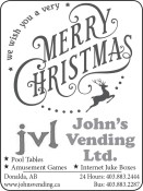 John's Vending wishes you a very MERRY CHRISTMAS