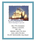 Coronation Seed Cleaning Co-op Ltd. PHONE: (403) 578-3810