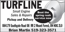 TURFLINE  Small Engine Sales & Repairs