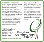 THE REGINA COMMUNITY CLINIC is a primary health service provider.