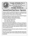 Seasonal Gravel Haul Owner / Operators wanted