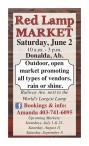 Outdoor, open market promoting all types of vendors, rain or shine.