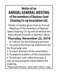 Notice of an ANNUAL GENERAL MEETING