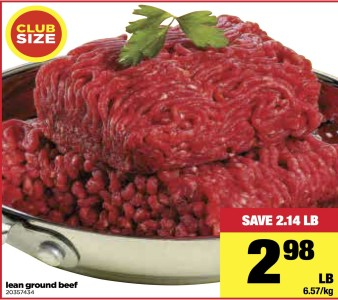 Club Size Lean Ground Beef