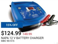 NAPA 12 V Battery Charger