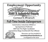 Full-Time Inside / Outside Salesperson wanted