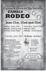 42nd Annual Castor & District Ag Society FAMILY RODEO