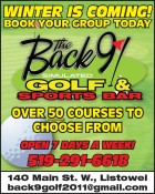 BOOK YOUR GROUP TODAY with Back 9