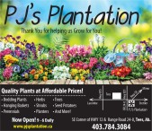 PJs Plantation Thanks you for helping us Grow for You!