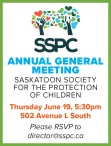 SASKATOON SOCIETY FOR THE PROTECTION OF CHILDRE ANNUAL GENERAL MEETING