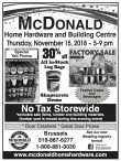 No Tax Storewide at McDONALD Home Hardware and Building Centre