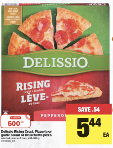 Delissio Rising Crust, Pizzeria Or Garlic Bread Or Bruschetta Pizza Selected Varieties Frozen, 499-888 G