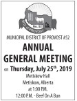 M.D. of PROVOST No. 52 ANNUAL GENERAL MEETING