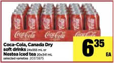 Coca-Cola, Canada Dry or Nestea soft drinks at the Real Canadian Superstore