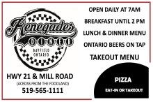 EAT-IN OR TAKEOUT at Renegades Diner