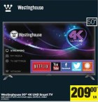 Westinghouse 50' 4K UHD Smart TV
