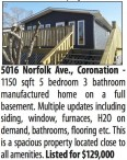 1150 sqft 5 bedroom 3 bathroom manufactured home on a full basement
