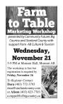 Farm to Table Marketing Workshop