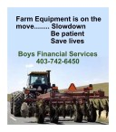 Farm Equipment is on the move...