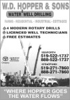 W.D. HOPPER & SONS  WATER WELL DRILLING