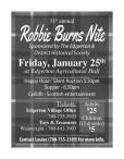 31st annual Robbie Burns Nite