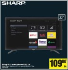 Sharp 32'' Roku Smart LED TV