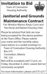 Janitorial and Grounds Maintenance Contract
