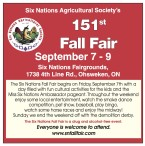Six Nations Agricultural Society's 151st Fall Fair