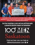100 Men Saskatoon present a split donation